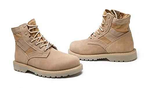 Clásico Martin 43 Cuero De Genuino Militar Zapatos Casual Trabajo Combate Hombre 40 Tamaño Boots Con 46 45 Invierno Cordones Sandcolor A Swnx q017ww