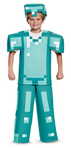 Armor Prestige Minecraft Costume, Multicolor, Medium (7-8) (Mine Craft Costume)