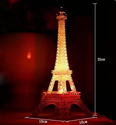 Fusicase LED Light,Fusicase Fashion Style New Cute Colorful Creative Romantic Eiffel Tower Desk Bedroom Night Light Decoration Baby Table LED Lamp