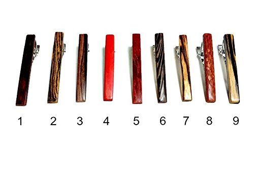 Set of 10 Exotic Hardwood Tie Clips by ExMateria
