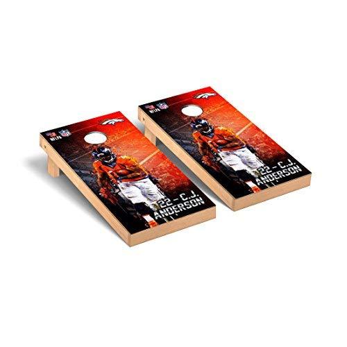 Victory Tailgate NFL Denver Broncos PA Version Football CJ Anderson #22 Corn hole Game Set One Size [並行輸入品]