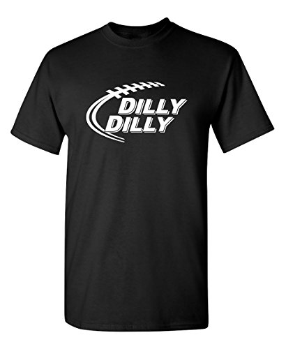 Dilly Dilly Football Graphic Cool Novelty Funny Youth Kids T Shirt YL Black Black Old School Football T-shirt