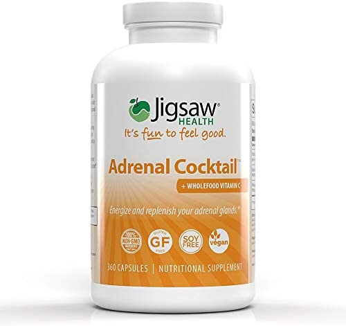 Jigsaw Health Adrenal Cocktail with Whole-Food Vitamin C, 360 Capsules