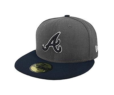 New Era 59Fifty Hat MLB Atlanta Braves Shader Melt 2 Charcoal Grey/Navy Blue Cap