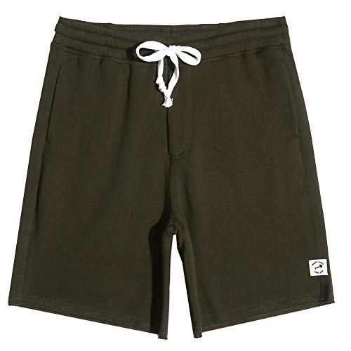 - MaaMgic Men's Fleece Pajama Flat Front Shorts 9