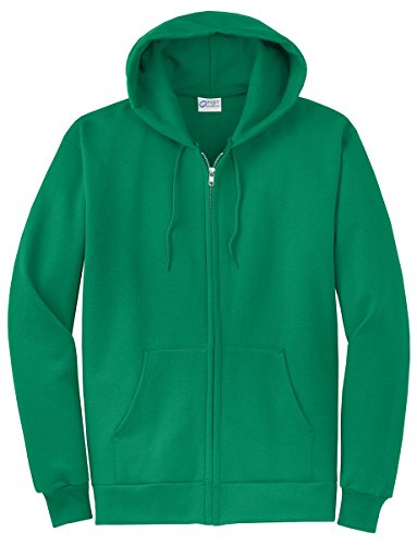Port & Company Men's Classic Full Zip Hooded Sweatshirt S Kelly