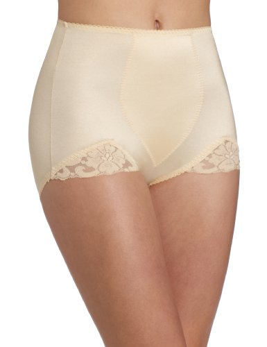 Rago Women's Plus-Size Panty V-Leg, Beige, 3X-Large (36) (Rago Lace Panties)