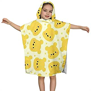 Lbbb Unisex Winnie The Pooh Hooded Bath Towels for Babies, Toddlers and Kids - Hypoallergenic,Perfect for Boys and Girls,One Size