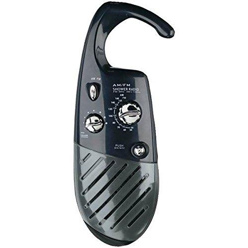 4 AAA Water-Resistant Shower Radio in Black by Conair