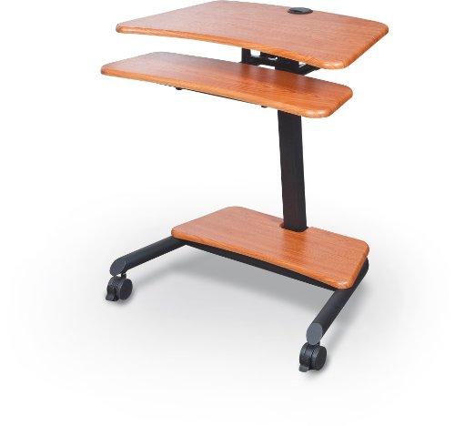Balt Up-Rite Workstation Sit/Stand Desk, Height Adjustable, 90459, Cherry, 28.5' - 45.5'H x 27.5'W x 22.5'D