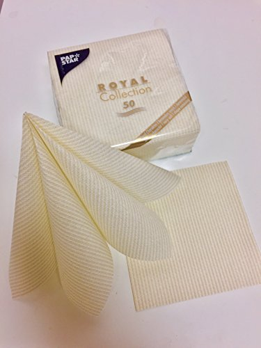 Linen-feel, Cloth-like Paper Disposable Napkins | 50 Pack | Royal Collection
