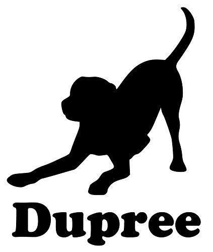 Chocolate Labrador Sticker (Minglewood Trading Labrador Retriever Dog Vinyl Decal Sticker w/Custom Personalized Name 5.5