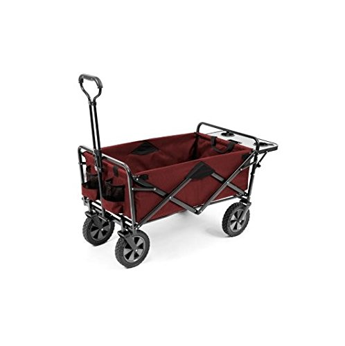 Mac Sports Folding Wagon Red With Folding Table 2016 Model