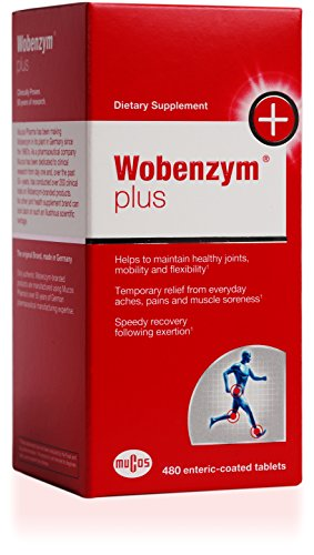Wobenzym - Wobenzym Plus - Supports Joint Function, Muscles and Recovery after Exertion* - 480 Enteric-Coated Tablets