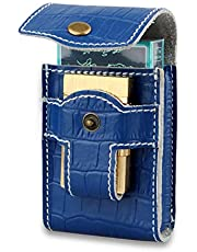 Kosibate Unique Black Waist Cigarette Case with Lighter Holder for King Size&100's