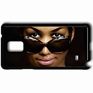 Personalized Samsung Note 4 Cell phone Case/Cover Skin Aretha Franklin Glasses Face Makeup Lipstick Black by supermalls