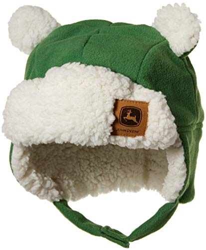 John Deere Boys' Toddler Winter Cap, Green,