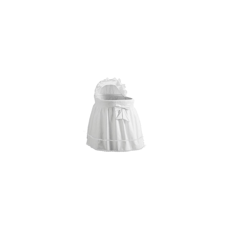 Babydoll Bedding Precious Bassinet Liner/Skirt & Hood Color: White – Size: 17″ 31″