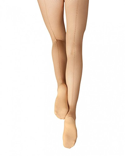 Capezio womens Professional Fishnet Tight with Seams 3400 XL Caramel
