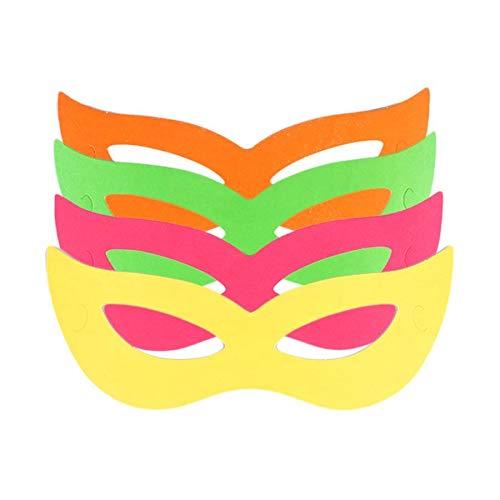 Kit Com 20 Colares Pisca + 30 Mascaras Holográficas