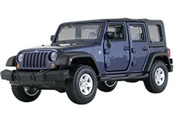 Jeep Wrangler Unlimited Rubicon 4 Doors Blue 1/32 by BBurago 43012