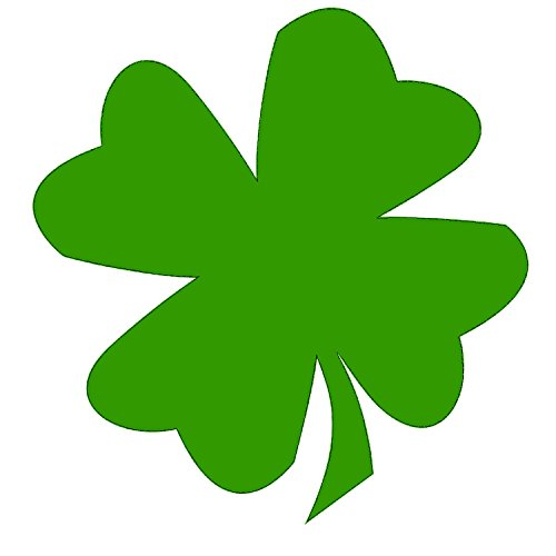 Best Green Shamrock 5x5 Inch Auto Decal Bumper Sticker Vinyl Decal For Car Wall Truck Van RV SUV Boat Window Locker Irish Lucky Ireland (Shamrock Sticker Bumper)