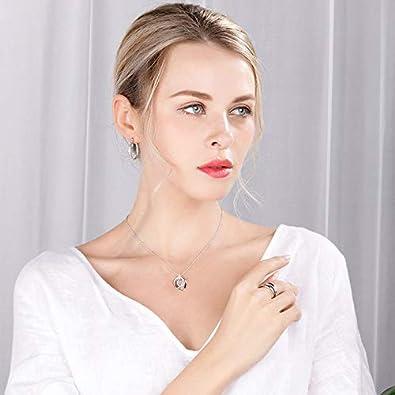 Italina Bague Femme Mode Bijoux de Zircone Cubique pour Femme 3 Pi/èces Verrouillage Plaqu/é Rhodium//Or//Or Rosa