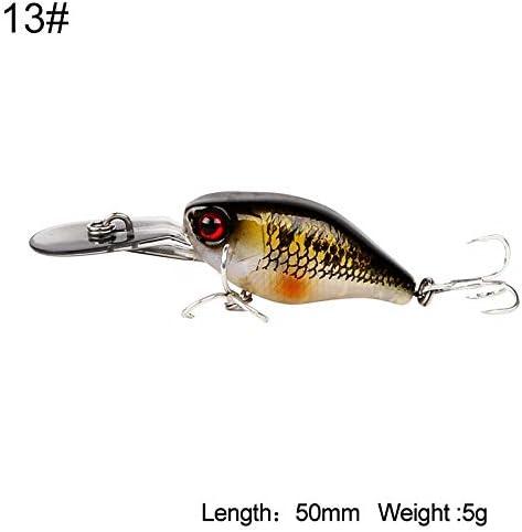 Kingdom Fishing Lures Hard Mini Minnow Crankbaits Small Cranks Baits Sinking Lure 5cm 5g Wobblers with VMC Hooks Fishing Tackle