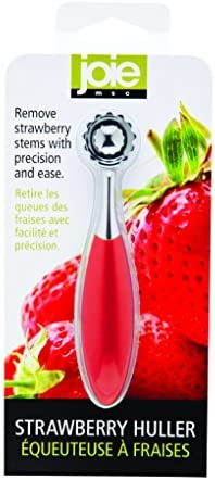 BPA Free MSC International 87312 Joie Strawberry Hull and Slice FDA Approved 2-Piece Set Red