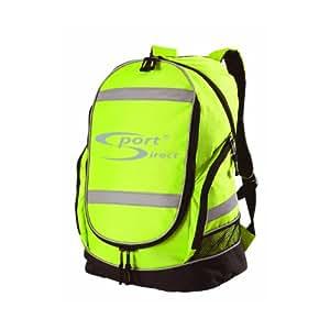Sport DirectTM Bicicleta reflectante de alta visibilidad mochila amarilla