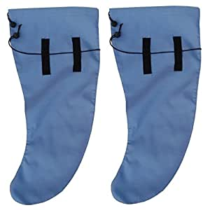 Anti Leech Hiking Socks Free Size Protection for Trekking (Sky Blue, Standard)