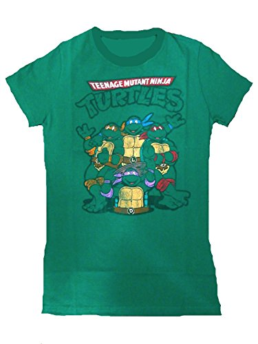 Teenage Mutant Ninja Turtles Group Juniors Green T-Shirt L