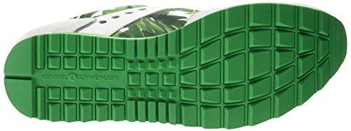 Schuhmanufaktur Mujer Frame Zapatillas und weiss Mehrfarbig Schmenger grün Colores 615 grün Varios S Kennel weiss BXqAwEtX