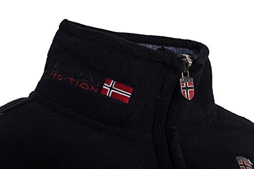 Da Norway Caldo Geographical In Pile Nero Uomo Invernale Giacca x7YqqCwT