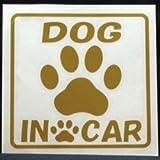 オリジナルステッカー Dog In Car 足あと (ゴールド) ST-1049