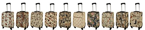 41KS24ZpyIL - Trolley Familia de perros con mango extensible Bolsa de viaje ruedas Asa tapiz tapiz royaltex Signare Bolsa de viaje Equipaje FA. bowatex