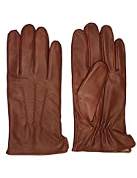 Luxury Soft Leather Gloves for Men - Sheep Skin Leather Men's Gloves Cashmere Lined Winter