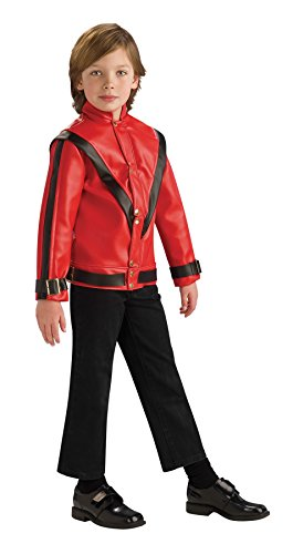 [Michael Jackson Child's Deluxe Red Thriller Jacket Costume Accessory, Large] (Thriller Jacket Costume)