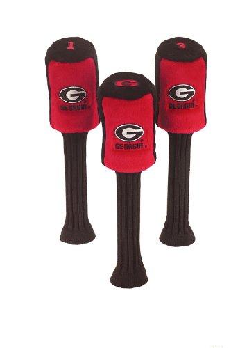 (Georgia Bulldogs Logo Graphite Plush Golf Headcovers Set of Three)
