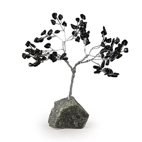 Beverly Oaks Healing Crystals Bonsai Tree ~All Natural Gemstone Tree ~ Money Tree Featuring Healing Stones (Black Tourmaline)