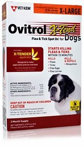 Ovitrol XTend Flea Tick Spot On for XLarge Dogs (81 lbs and Over) 3 Month