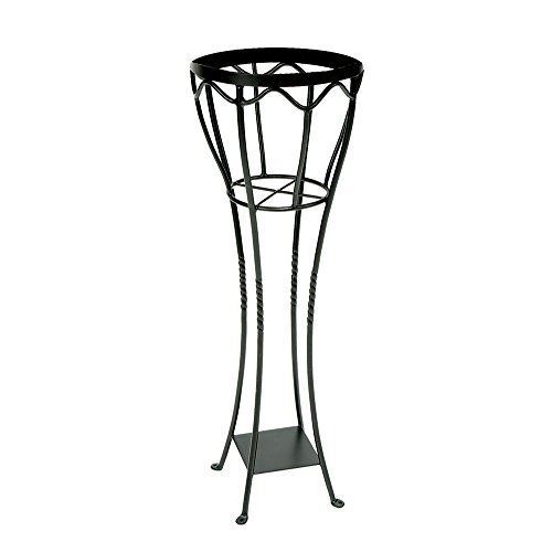 (Achla Designs VPS-04 Verandah Wrought Iron Displaying Pots, Metal Plant Stand, Graphite)