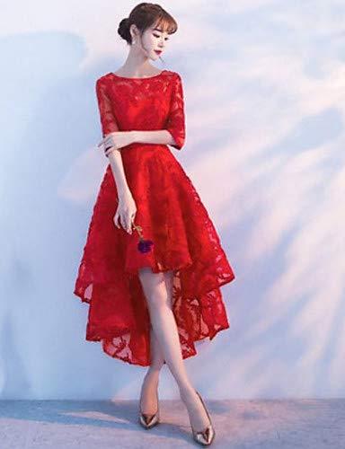 Rouge YFLTZ Robe de soirée balançoire Femme S