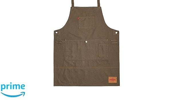 Vantoo- Delantal de trabajo lienzo resistente con bolsillos- ajustable hasta XXL para hombres y mujeres, marrón #7: Amazon.es: Hogar