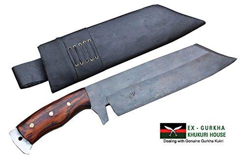 14'' Rust Free Freedom Machete Knife - Full Tang Hand Forged Blade Bushcraft Khukuri or Khukris Handmade By Ex Gurkha Khukuri House in Nepal by EGKH.