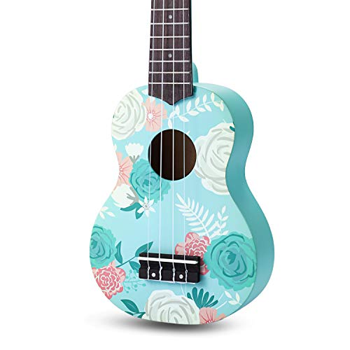 SanDona AK60F Soprano Basswood Ukulele,Children Musical Instruments, 21 Inch with Gig Bag for kids Students and…