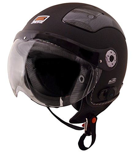 Origine O528B Pilota 3/4 Helmet with Blinc Bluetooth (Flat Black, X-Large)