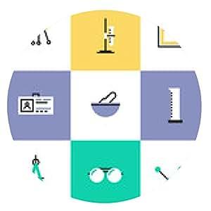 alfombrilla de ratón Iconos de la ciencia experimento pictogram - ronda - 20cm