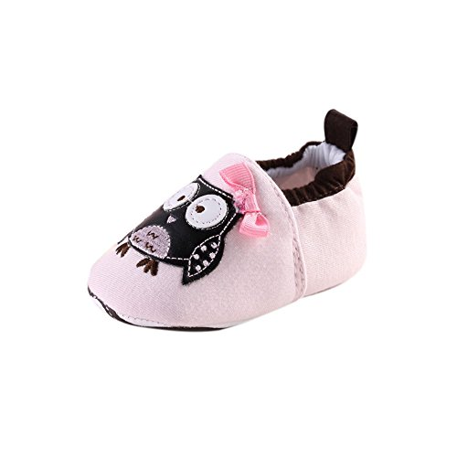 Newborn Cloth Shoes,Buedvo Baby Bowknot Eagle Who Loves You Print Soft Sole Toddler (0-6Months, Pink)