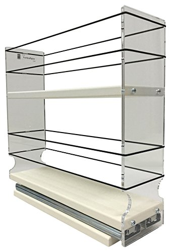 Vertical Spice - 3x2x11 DC - Spice Rack - Large Container Drawer - Two Tiers (Best Spice Rack Plans)